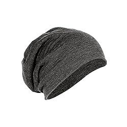 Gajraj Men's Beanie Hat (MAJ1CA_Grey_Free Size)