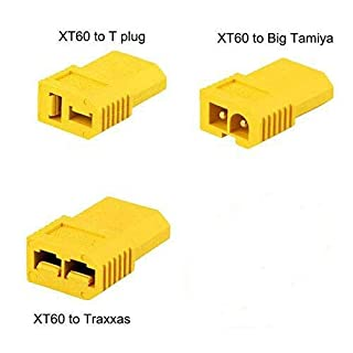Amass Fconegy 3PCS XT60 Male to Connector Deans T /Traxxas TRX/Tamiya Plug Female Converter Adapter for RC Lipo Battery