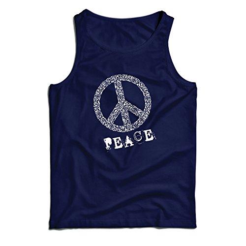 (lepni.me Weste FRIEDENSsymbol - 1960er Jahre 1970er Jahre Hippie Hippie, Street-Kleidung, Friedenszeichen, Sommer Festival Hipster Swag (Large Blau Mehrfarben))