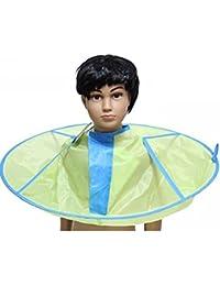 Corte de pelo peluquería pelo corte Catcher delantal cabo Tinksky niño niño babero pelo corte cabo peluquero estilo salón capa impermeable (manzana verde)