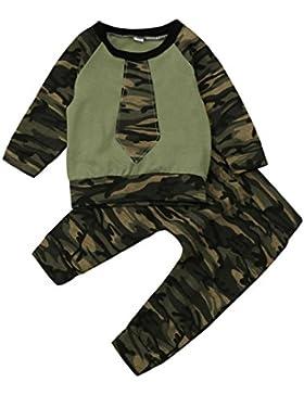 Babykleidung,Sannysis Kleinkind Baby Mädchen Jungen Camouflage Tops Shirt Hosen Outfits Set Kleidung(6-24Monat...