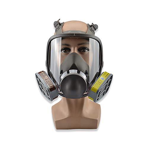 Gasmaske Doppel-Filter-Box Gesichts Atmung Filter Kit Sicherheits-Beatmungsgerät Umfassende Prävention Von Chemischen Gasen, Staub, Pestizide, Formaldehyd