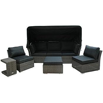 Amazon.de: Ploß Polyrattan-Loungeset Rocking - XL-Sitzgruppe-Set 5 ...