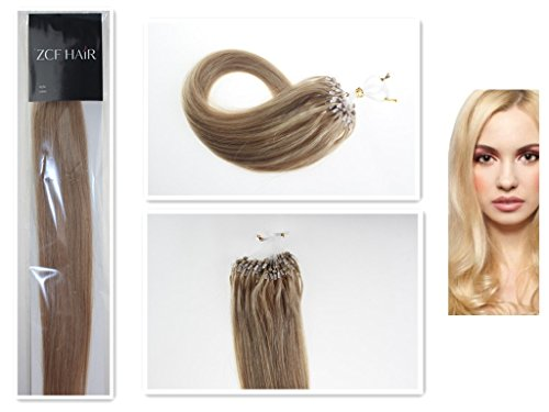 Style 26'' Easy Loops Micro Rings Beads Tipped 100% Real Human Hair Extensions Straight Hair Color 27 Dark Blonde Beauty Design Salon by COOL-BEAUTY