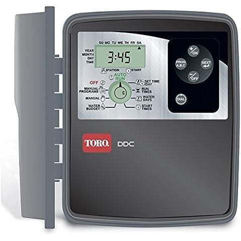 Programador de riego exterior de 6 estaciones, conexión a corriente. un compacto con muchas prestaciones - OFERTA DESCUENTO