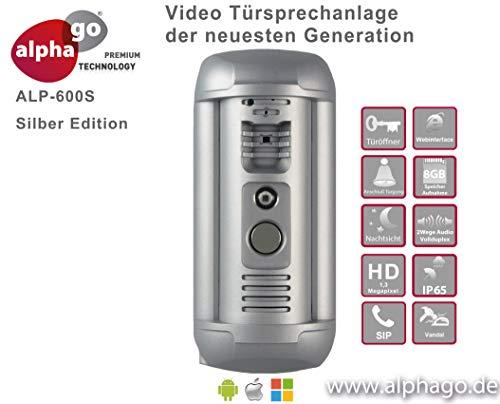 LAN IP Video-Türsprechanlage ALP-600S - Gegensprechanlage-Tür Überwachung - kein Cloud Server - Fritz!Fon C4/C5 kompatibel-Steuerung über PC/Smartphone/Tablet-FTP Anbindung Ip-intercom
