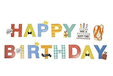 HAPPY BIRTHDAY Schriftzug Girlande Kinder Geburtstag Dekoration