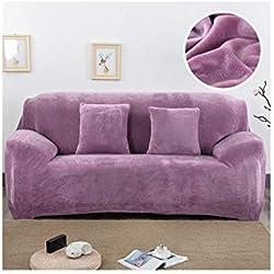 Cheryl Norri en Peluche en Tissu Sofa 1/2/3/4 épais Seater Couch Sofa Slipcover Couvre Extensible élastique à Bas Prix Housses de canapés-Serviettes Wrap Couvrir, Prune, 2 Seat 145-185Cm