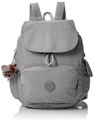 Kipling City Pack S, Mochila para Mujer, Gris (Clouded Sky), 27 x 33.5 x 19 cm
