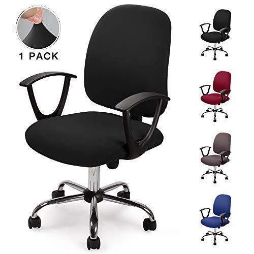 Eckonaver Fundas para sillas Oficina Cubierta de la Silla Fundas Elástica Funda Elástica para Silla Removible Modernas Estilo Simplista Funda...