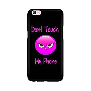 Mobicture Don't Touch My Phone Designer Printed Hard Case Cover - [Hard Poly Carbonate] [Slim-fit] [Shock-Proof] Back Cover for Oppo F3 Plus
