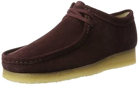 Clarks Originals Men's Wallabee Lace-Up Shoes, Purple (Burg Suede), 9 9 UK