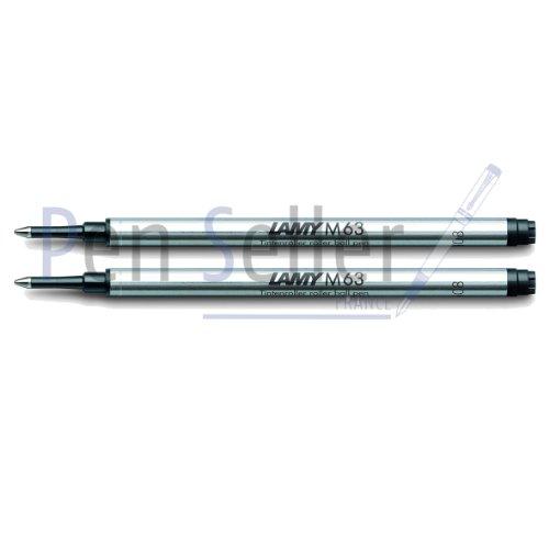 Lamy: Rollerball-Großraummine M63: Farbe: schwarz, Strichbreite: M, 2er-Set.