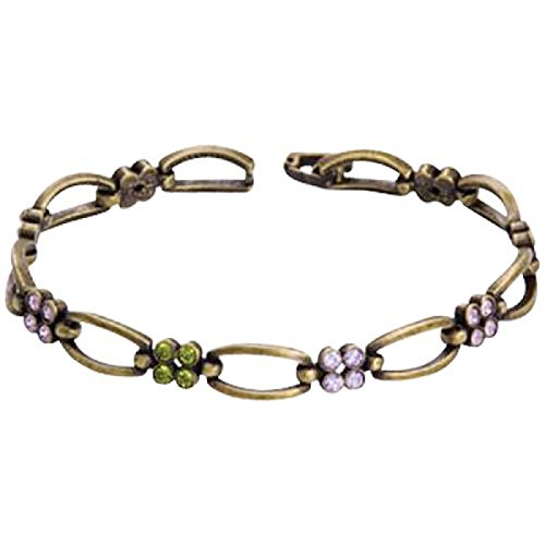 annaleece-oxidized-goldtone-oval-linked-bracelet-with-swarovski-elements