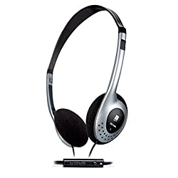 iBall i342 Univo Headphone Headset With MIC for Mobile Phones Tablets & Laptops - Black Silver