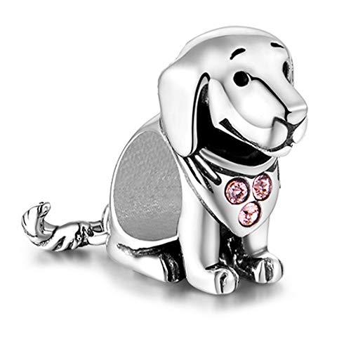 Labrador Hund Charm - Sterling Silber S925 Charm für Damen Pandora Armband in einer Geschenkbox