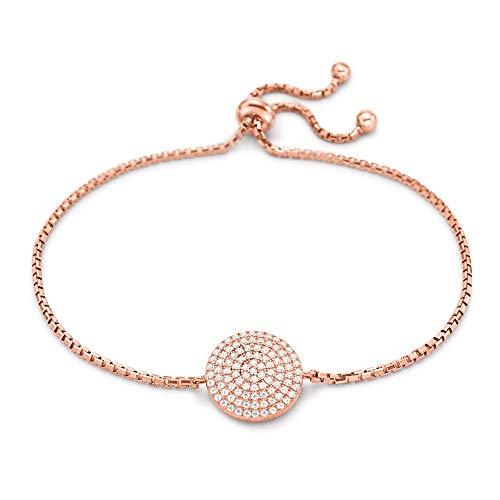 a6640471067f Folli Follie Ladies  Rose Gold Plated Adjustable Bracelet 5010.3837