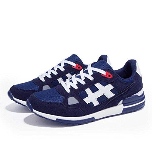 Herren Große Größe Sportschuhe Atmungsaktiv Mode Ausbildung Laufschuhe navy blue