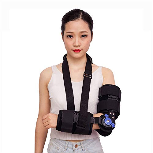 Gomito ROM a gomito con ginocchiera, gomito post-operante Brace ROM ginocchiera con gomito a braccio per immobilizzare le articolazioni,right