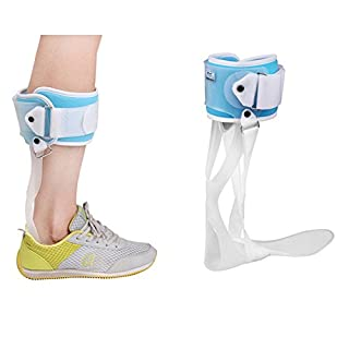 AFO Ankle Foot Orthosis Foot Drop Orthosis Postural Correction Brace Splint Leaf Spring Recovery Equipment Injection (Large, Left)