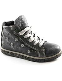 Primigi 46140 27 30 Grigio Scarpe Bambina Sneaker Mid Zip Laterale Goretex bd63bc433aa
