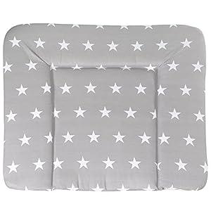 roba Wickelauflage 'Little Stars', weiche Wickelunterlage 85×75 cm, Baby Wickeltischauflage PU beschichtet