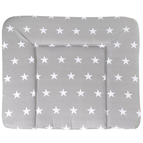 roba Wickelauflage 'Little Stars', weiche Wickelunterlage 85x75 cm, Baby Wickeltischauflage PU beschichtet
