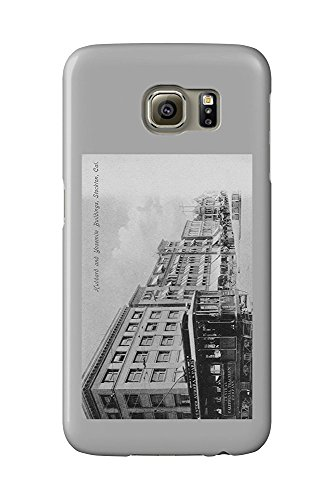 Stockton, California - Exterior View of the Hubbard and Yosemite Buildings (Galaxy S6 Cell Phone Case, Slim Barely There)