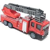 Akrobo Friction Diecast Die Cast Truck Model With Light & Music (FIRE TRUCK 2)