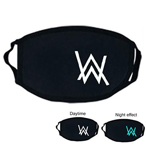 Preisvergleich Produktbild Zoylink Frauen Mund Maske Leuchtende Männer Mundabdeckung Winter Baumwollschwarz Mund Maske