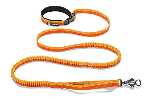 Ruffwear Elastische Hundeleine, Taillengürtel zum Laufen, Spazierengehen oder Wandern, Alle Hunderassen, Länge: 2,2 m - Dehnbar bis 3,4 m, Orange (Orange Sunset), Roamer Leash, 40354-83573