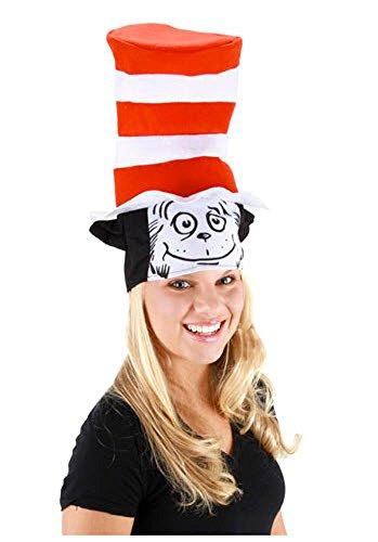 Kostüme Seuss Dr Halloween (Dr. Seuss The Cat in the Hat Smiling Erwachsene Kostüm)