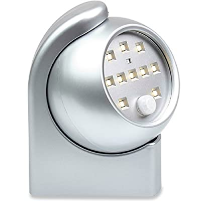 Motion Sensor Night Light for Hallway, Stairs, Closet, Bedroom, Kitchen & More! LED Wall Light Fixture w/ *FREE* Mounting Items To Stick-It-Anywhere - Buy One For Each Dark Corner!