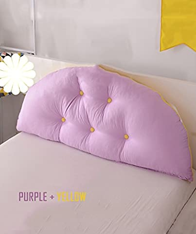 GUOWEI Reading Pillow All Cotton Support Bedside Cushion Cuddly Bed Head Pillow Reading Backrest Detachable Buttons-Baby Bed/Twin Size/Full Size/Queen Size/King Size Lumbar Pad ( Color : 5* , Size : 150*10*70CM )