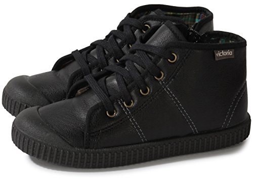 Victoria Bota Piel Pu 36613, Boots mixte enfant Noir (Negro)