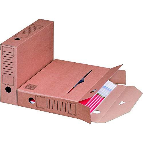 25 x Archiv-Ablagebox braun 320 x 67 x 242 mm