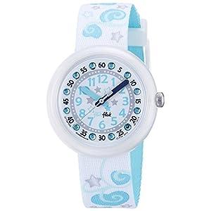 Flik Flak Mädchen Analog Quarz Uhr mit Stoff Armband FTNP005-STD