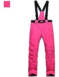 Pantalones de esquí de Invierno Parejas de Hombres y Mujeres Impermeables al Aire Libre Tablero Simple y Doble Espesar Chaquetas Pantalones de algodón