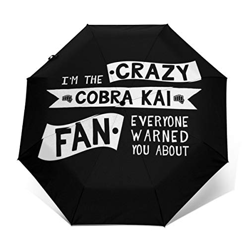 Im The Crazy Cobra Kai Fan - Paraguas Plegable Apertura