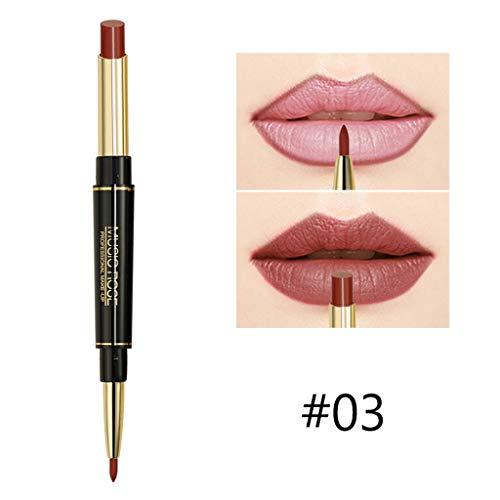 Lippenstift Lipliner Make-Up Wasserdichte Matte Lip Liner Bleistift Doppelseitiger Dauerhafter Lipliner Wasserfester Lip Liner-Stift -