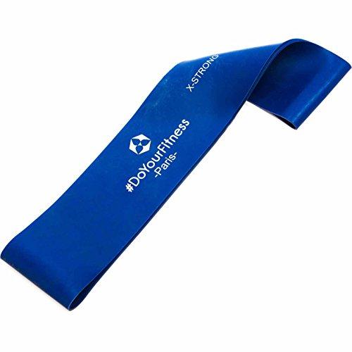 #DoYourFitness® Fitnessbänder in 4-Stärken | Einzeln oder direkt im 4er-Set| Gymnastikbänder mit 50cm Umfang - geschlossene Sportbänder (eng. Mini-Loops) für Reha, Fitness & Gymnastik - Paris/Blau