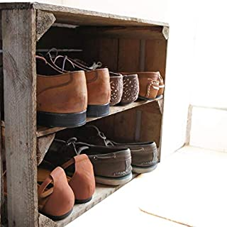 Wooden Apple Crate; handmade in Kent, a shelved unit for use as storage/shoe rack