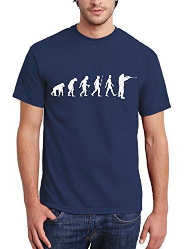 clothinx Herren T-Shirt Jäger Evolution Navy