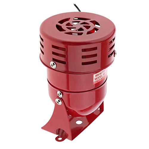 Homyl Sirène Industriel 110db MS 190 Alarme Sonore Sirène de Signale Haute Qualité - Rouge (110 V)