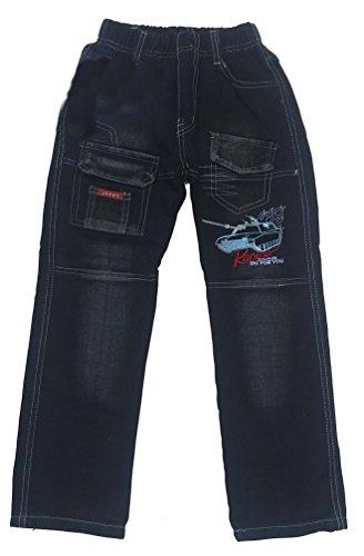 Bequeme Jeans mit rundum Gummizug, in Schwarz, Gr. 92/98, J396.2e