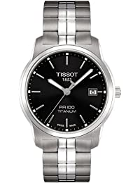 Para hombre Tissot PR100 gris titanio reloj infantil de cuarzo analógico T0494104405100