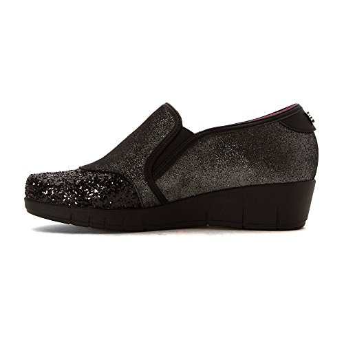 Helle Comfort Womens Wira Leather Shoes Black Combo