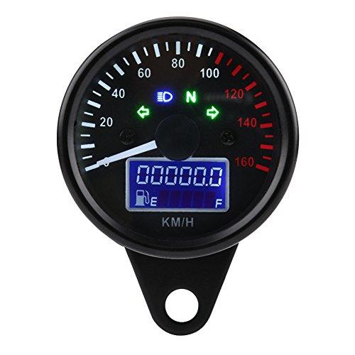 Qiilu ql06127universal 0~ 160km/h Moto Digital LED LCD tacómetro velocímetro velocidad calibre...