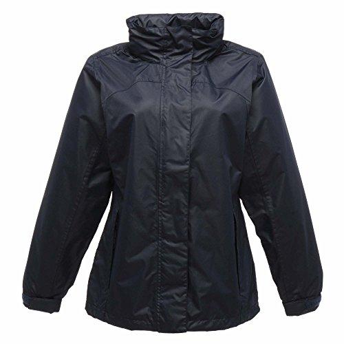 Regatta Damen Ashford Breathable Jacke, Schwarz Dunkelgrau / Schwarz