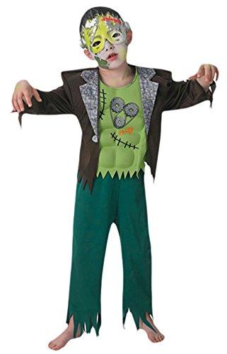 erdbeerloft - Jungen Karneval Halloween Kostüm Frankenstein Boy, Grün, Größe 110-116, 5-6 Jahre